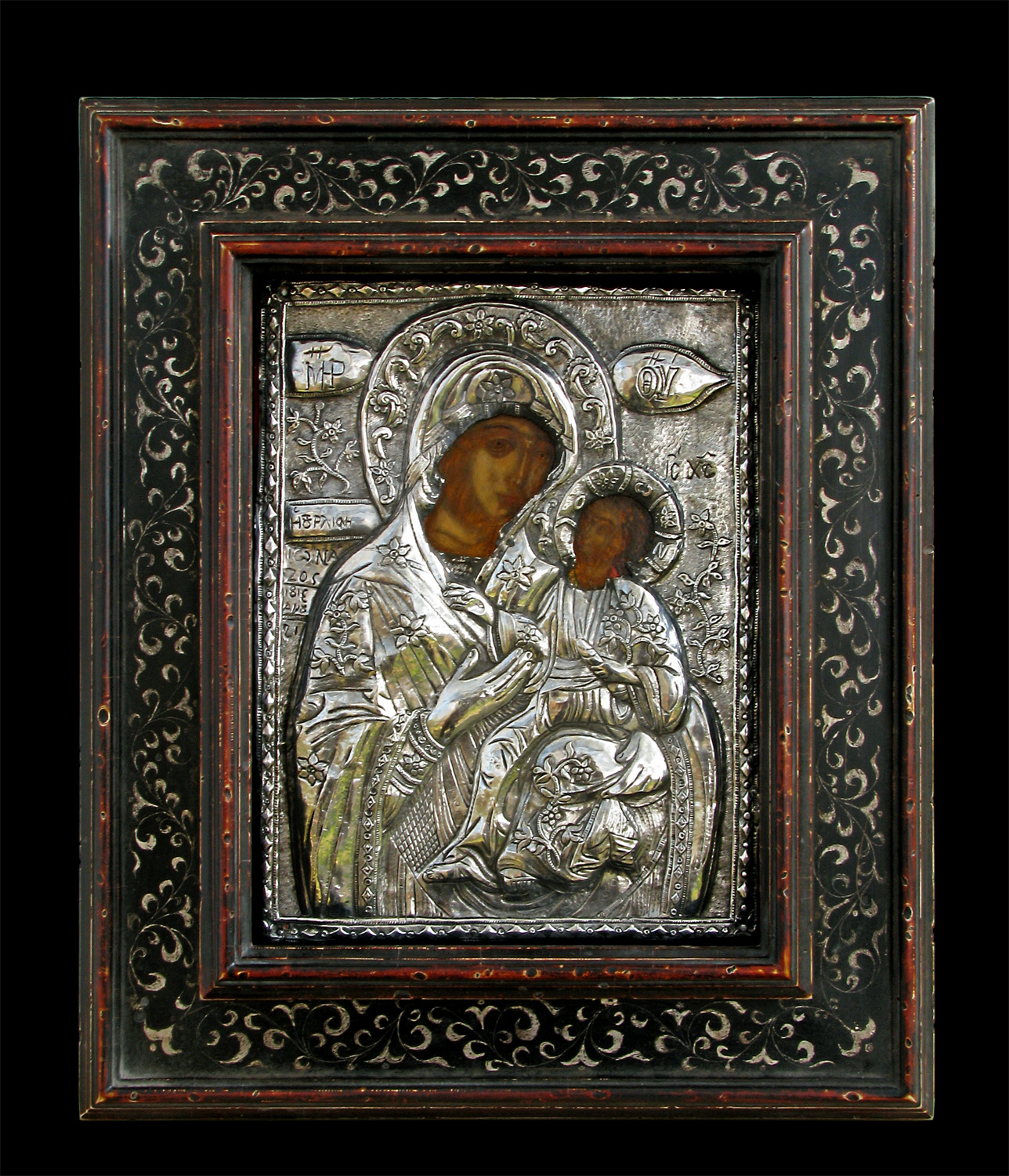 Cornelroscaframes hand crafted picture frames by cornel rosca old greek orthodox icon framed by roscas jeuxipadfo Gallery